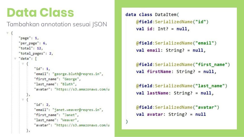 Data Class 23 Tambahkan annotation sesuai JSON
