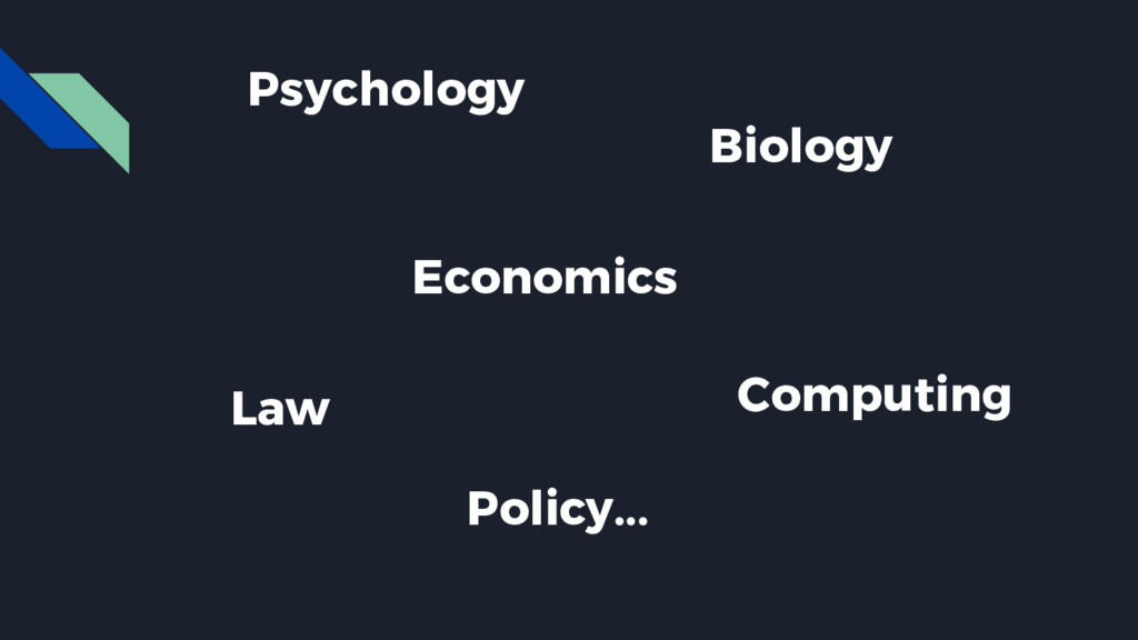 Psychology Biology Economics Law Policy... Comp...