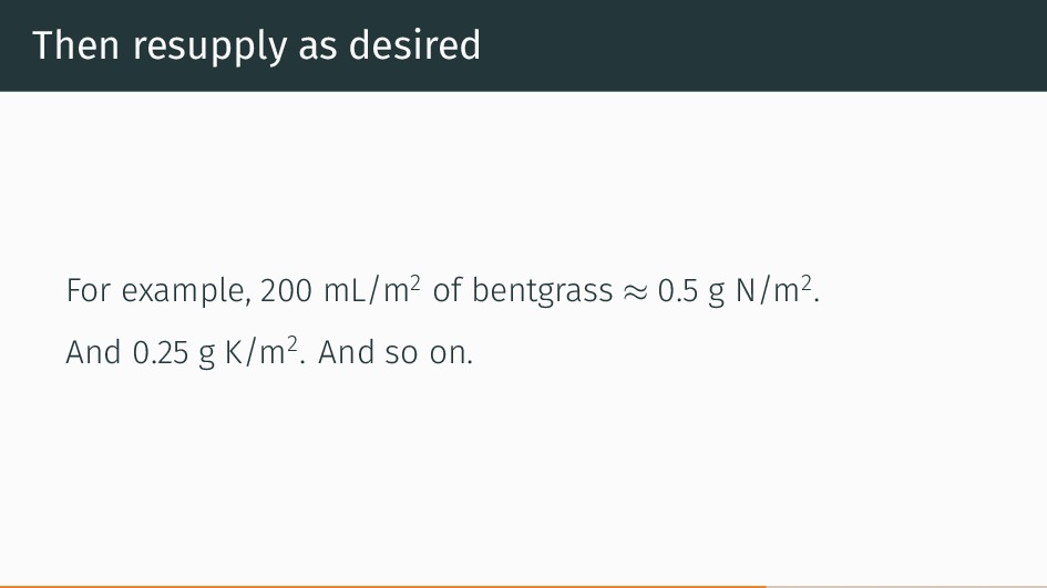 Then resupply as desired For example, 200 mL/m2...