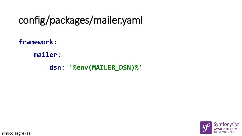 @nicolasgrekas config/packages/mailer.yaml fram...