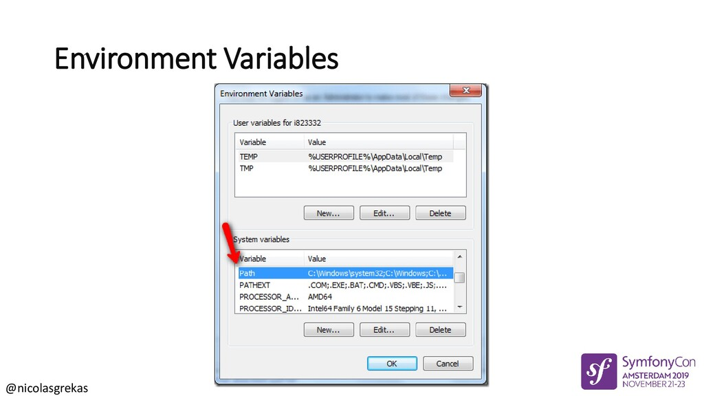 @nicolasgrekas Environment Variables