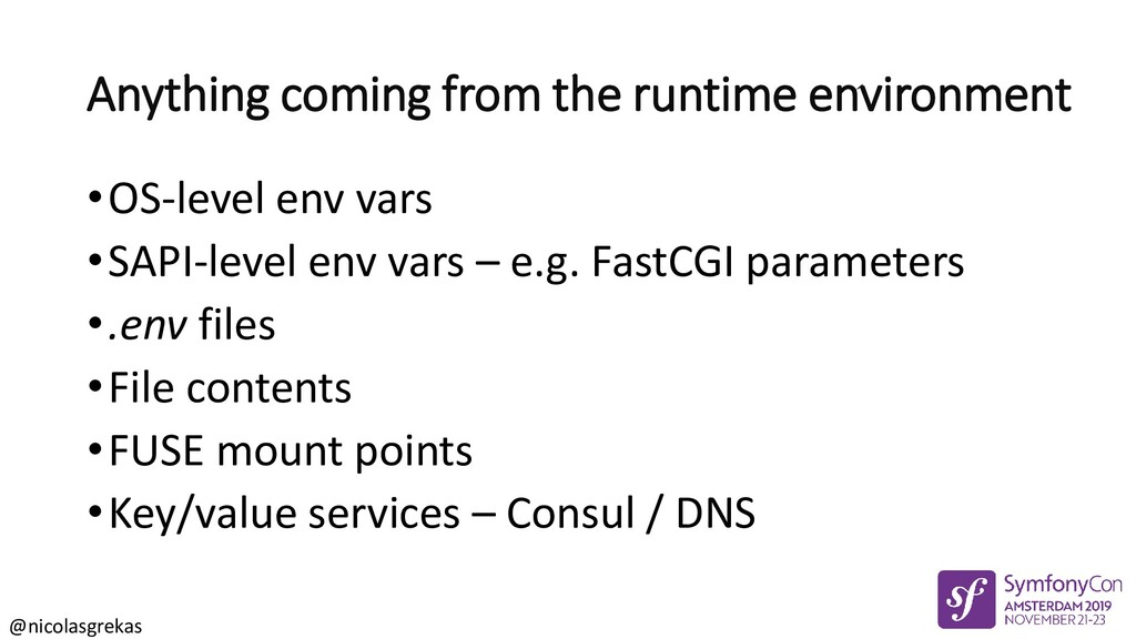 @nicolasgrekas Anything coming from the runtime...