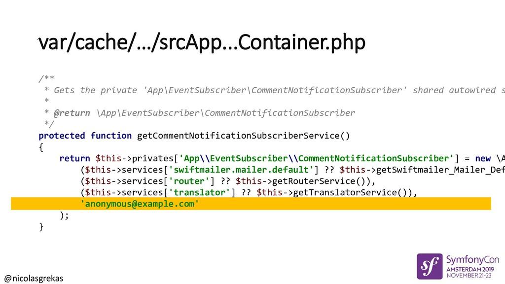 @nicolasgrekas var/cache/…/srcApp...Container.p...