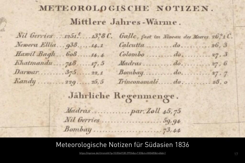 17 Meteorologische Notizen für Südasien 1836 ht...