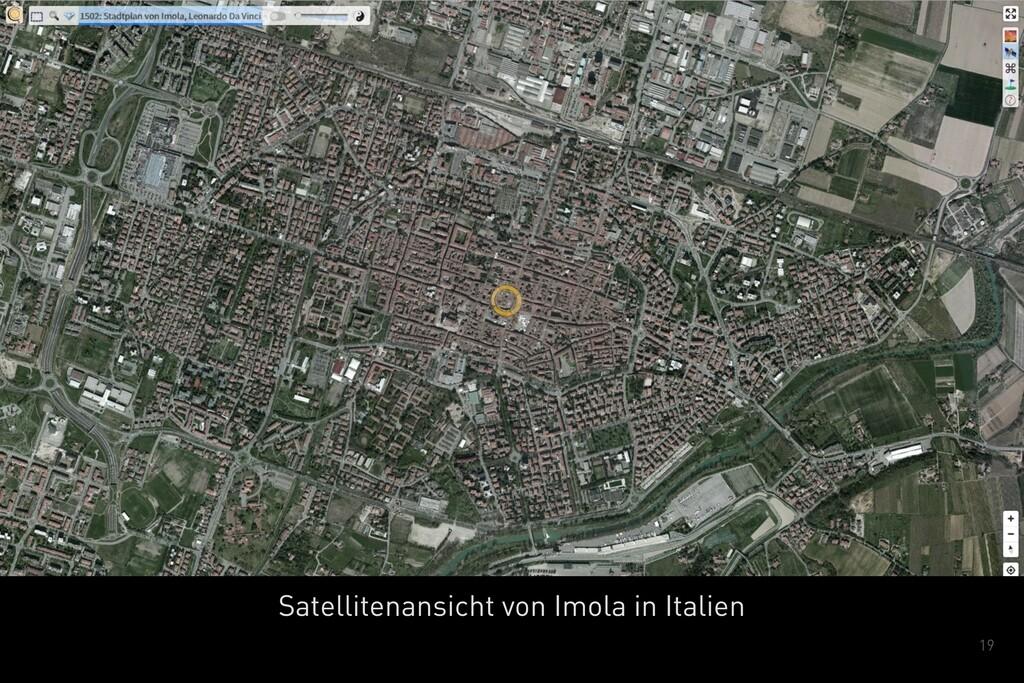 19 Satellitenansicht von Imola in Italien
