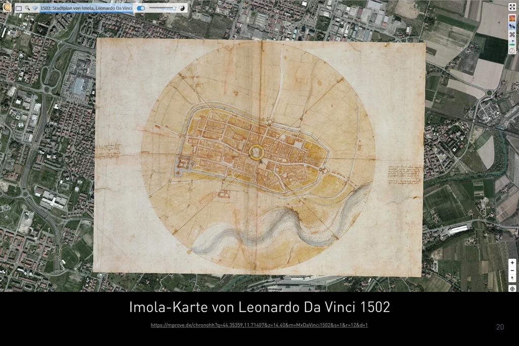 20 Imola-Karte von Leonardo Da Vinci 1502 https...