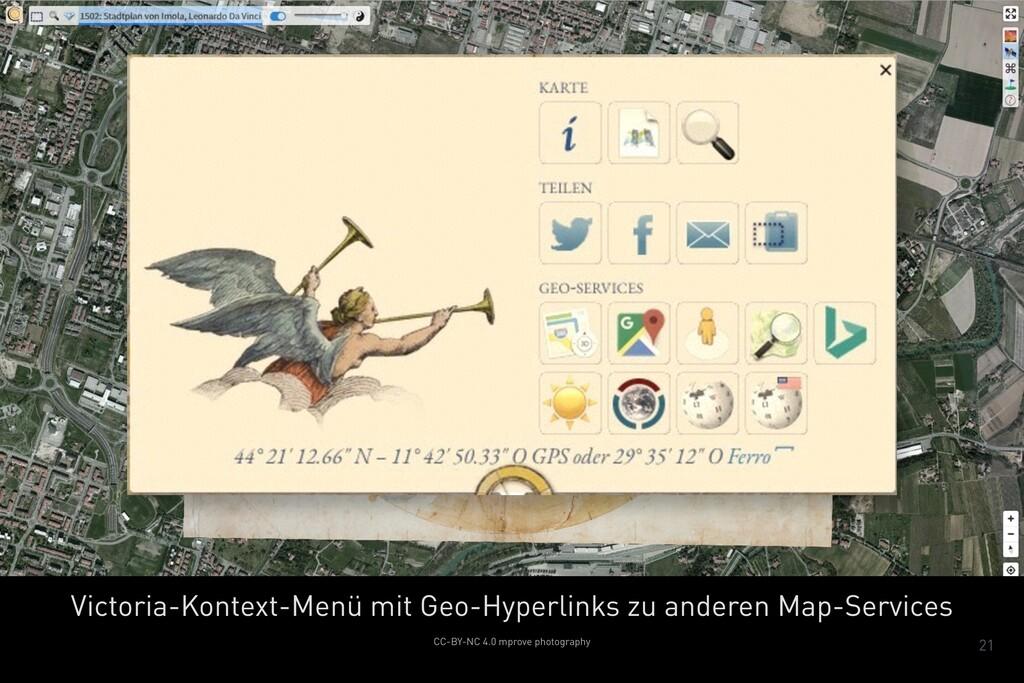 21 Victoria-Kontext-Menü mit Geo-Hyperlinks zu ...