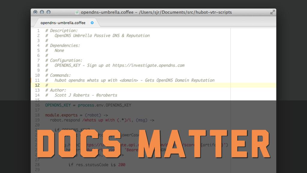 Docs Matter
