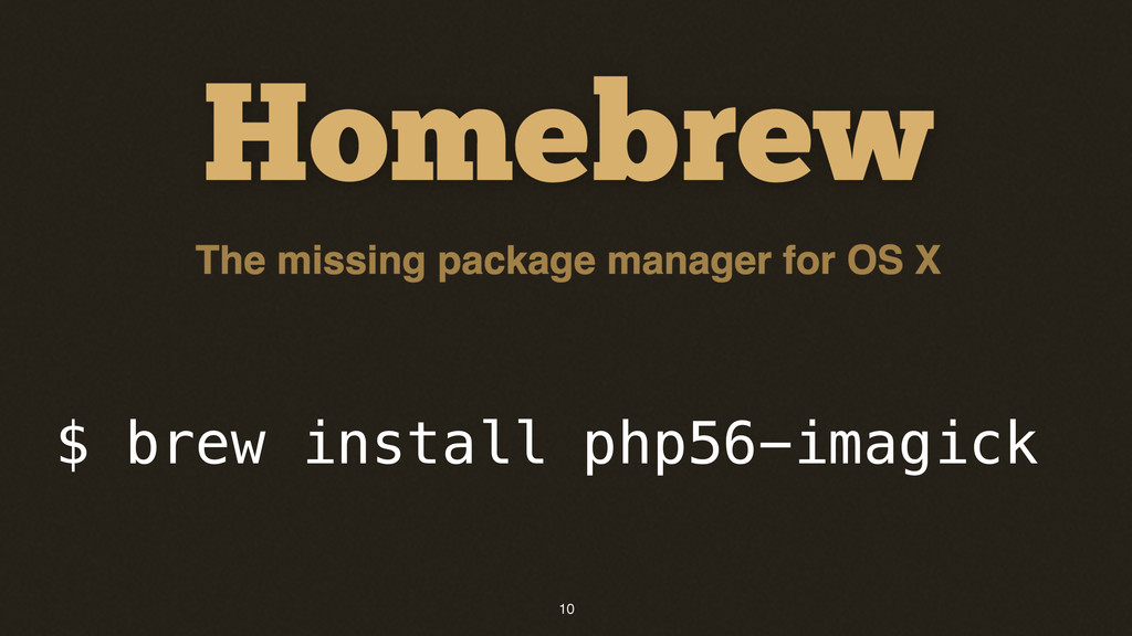 10 $ brew install php56-imagick
