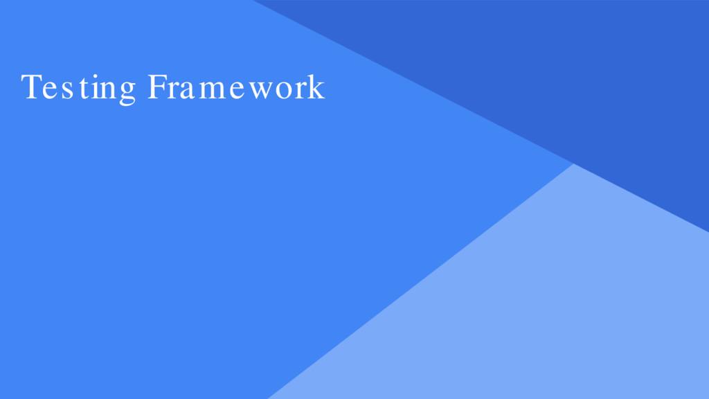 Proprietary + Confidential Testing Framework