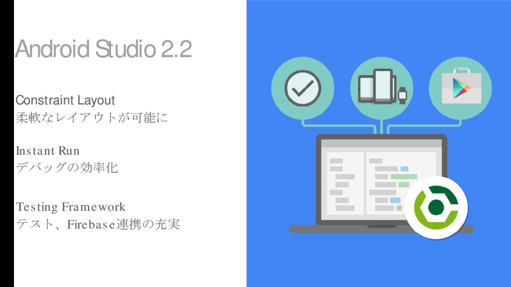 Android Studio 2.2 Constraint Layout 柔軟なレイアウトが可...