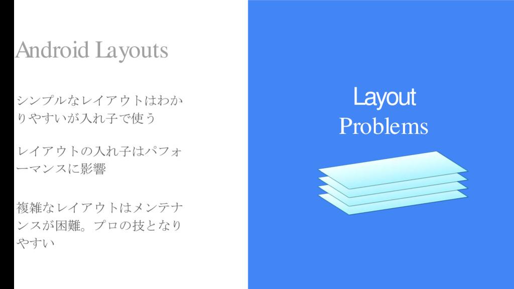 Layout Problems Android Layouts シンプルなレイアウトはわか り...