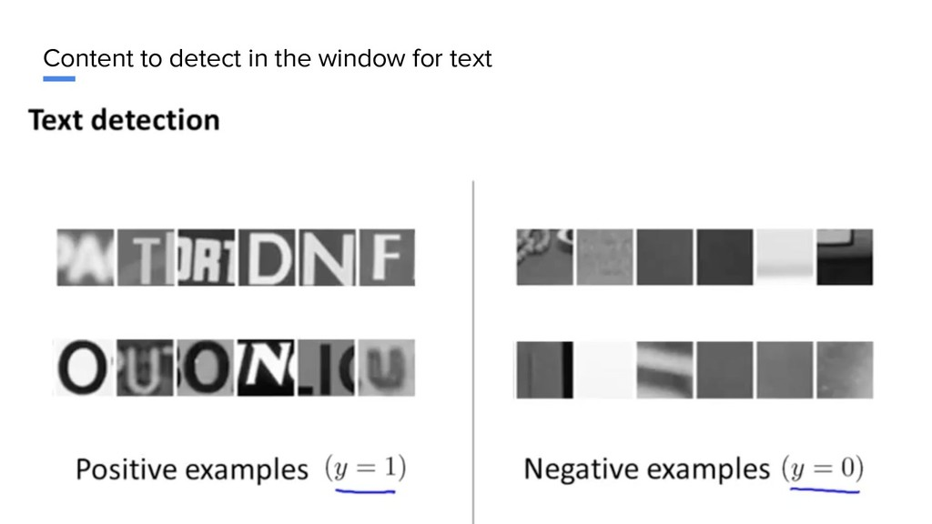 Content to detect in the window for text