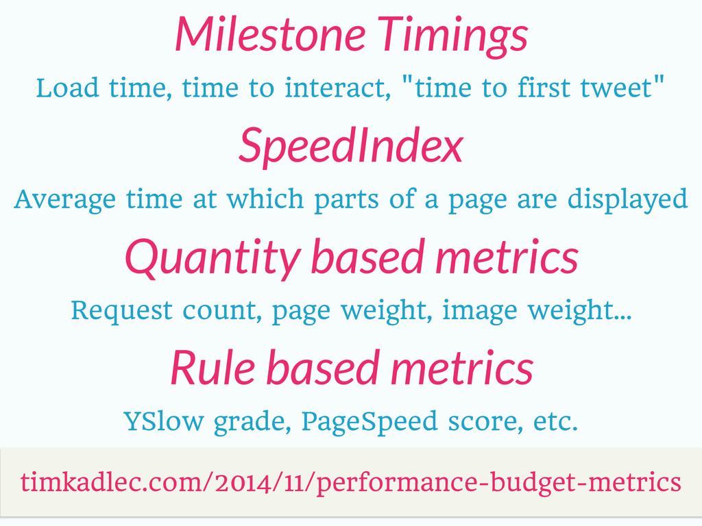 Milestone Timings timkadlec.com/2014/11/perform...