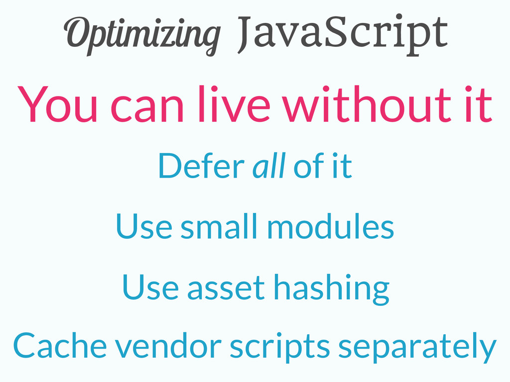 Optimizing JavaScript Cache vendor scripts sepa...