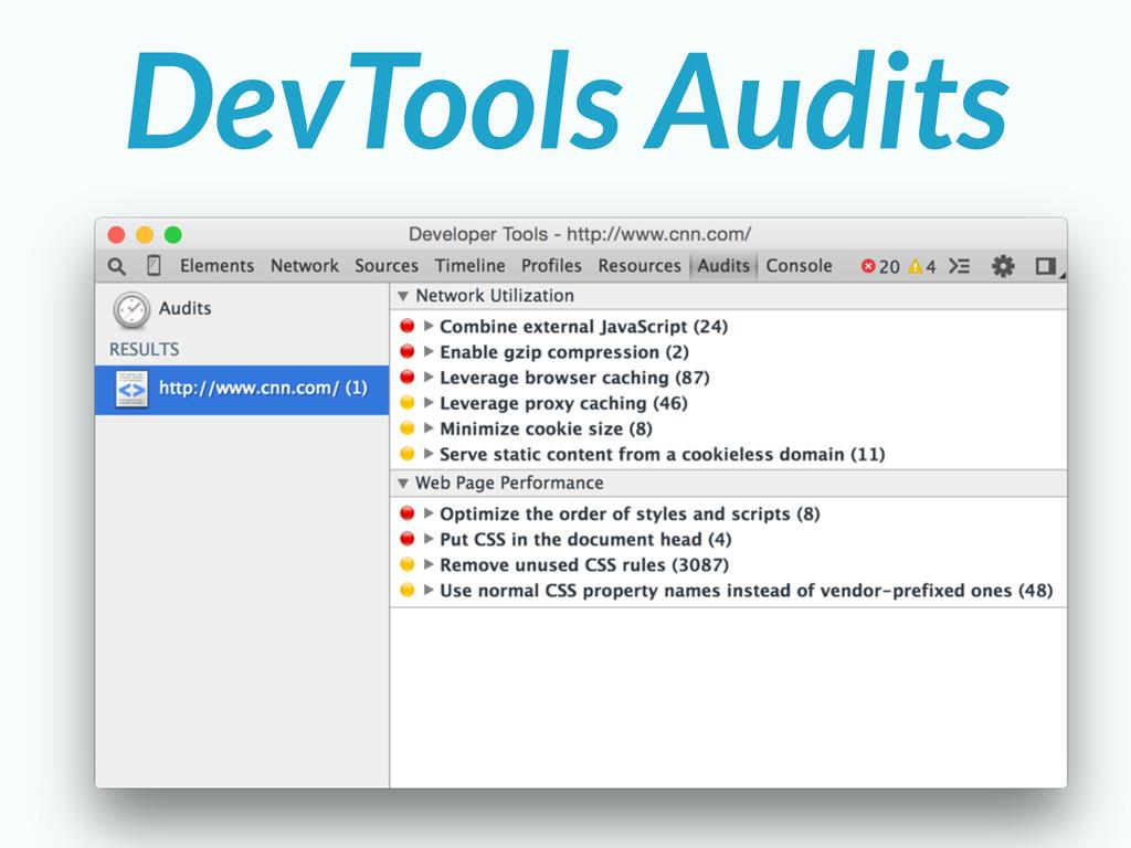 DevTools Audits
