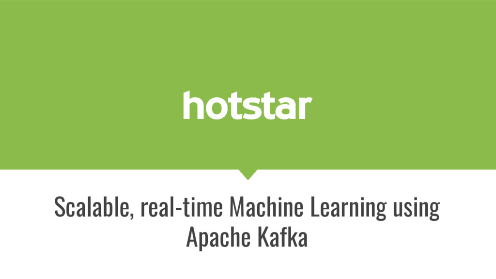 Scalable, real-time Machine Learning using Apac...