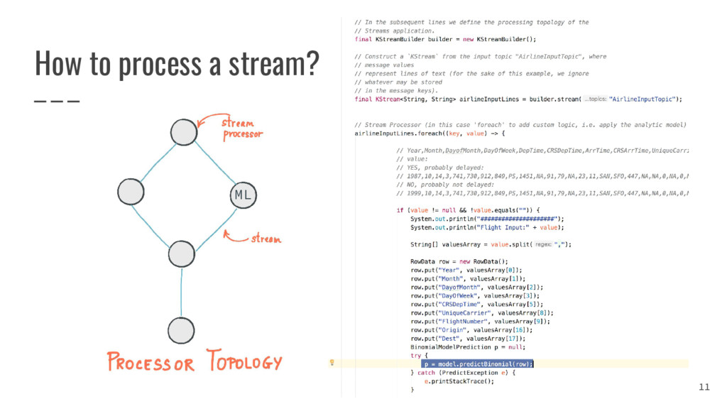 How to process a stream? 11 ML