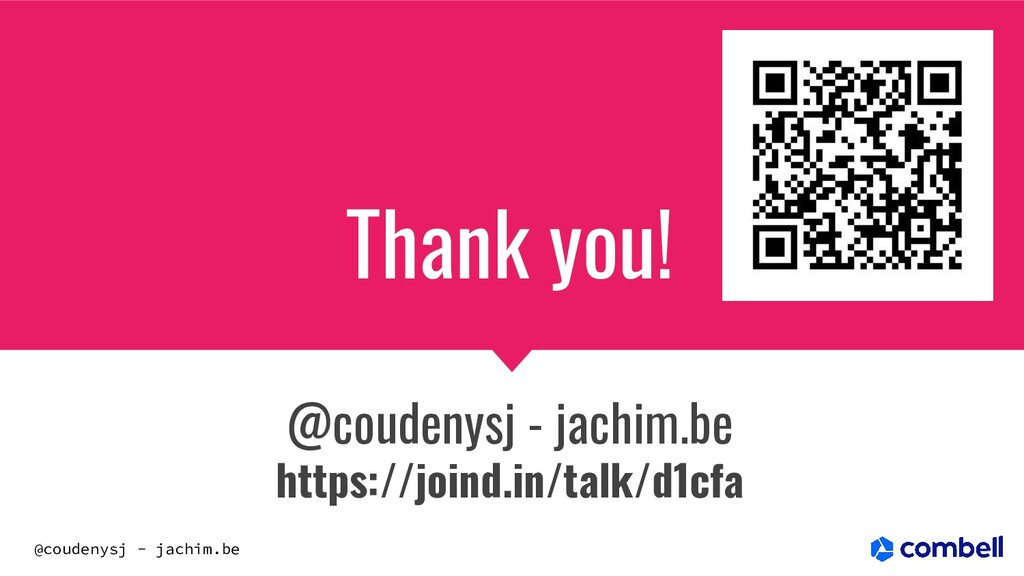 @coudenysj - jachim.be Thank you! @coudenysj - ...