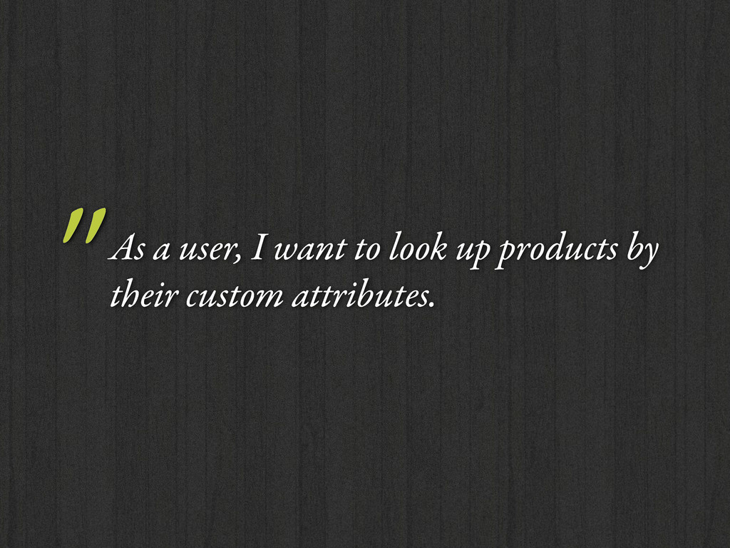 """As a user, I want to look up products by their..."