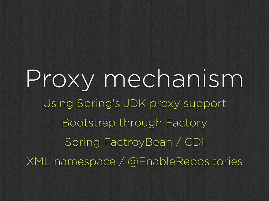 Proxy mechanism Using Spring's JDK proxy suppor...