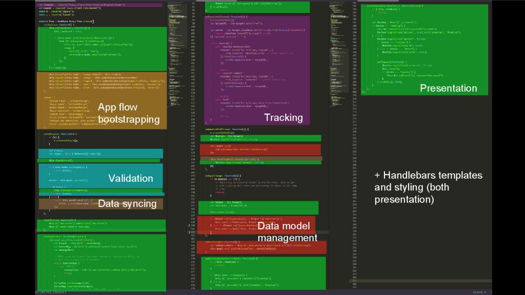 Presentation Tracking App flow bootstrapping Va...