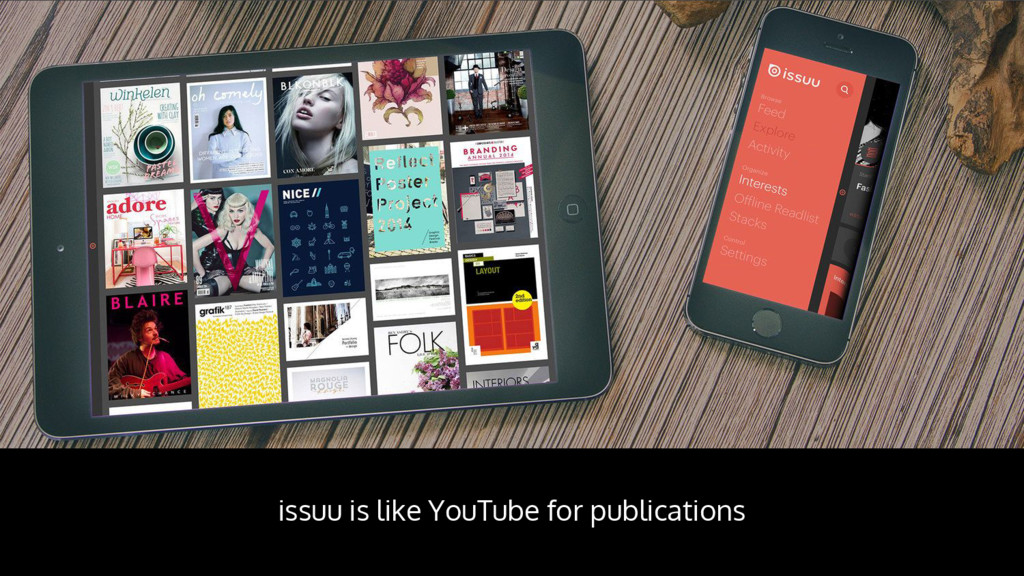 issuu is like YouTube for publications