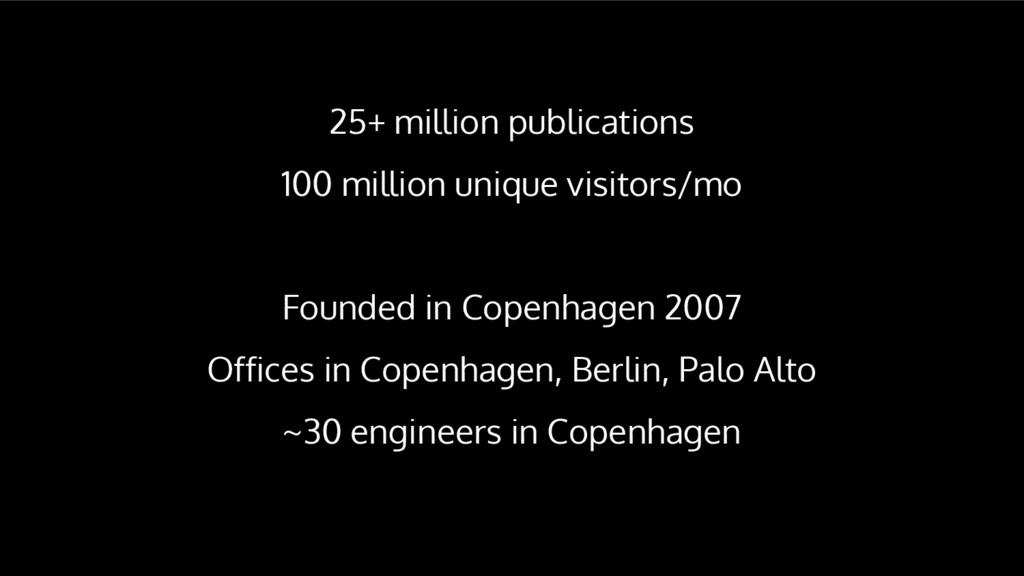 25+ million publications 100 million unique vis...