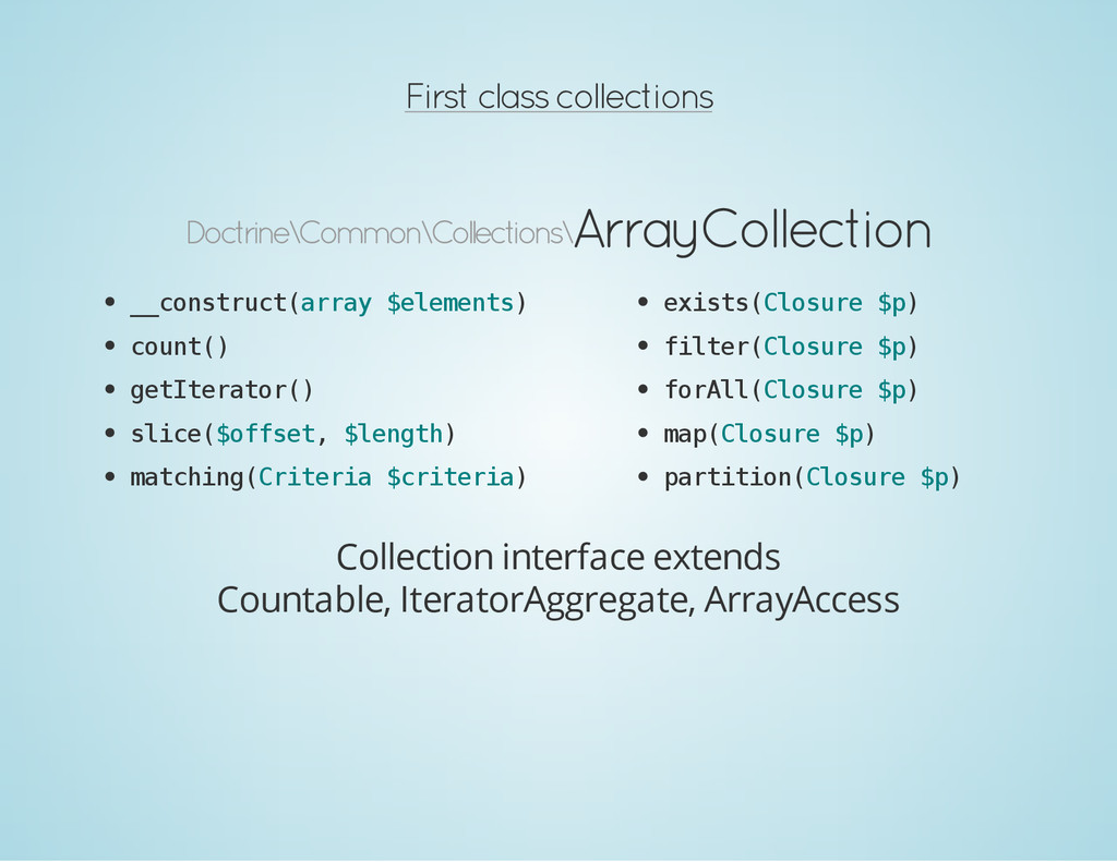First class collections Doctrine\Common\Collect...