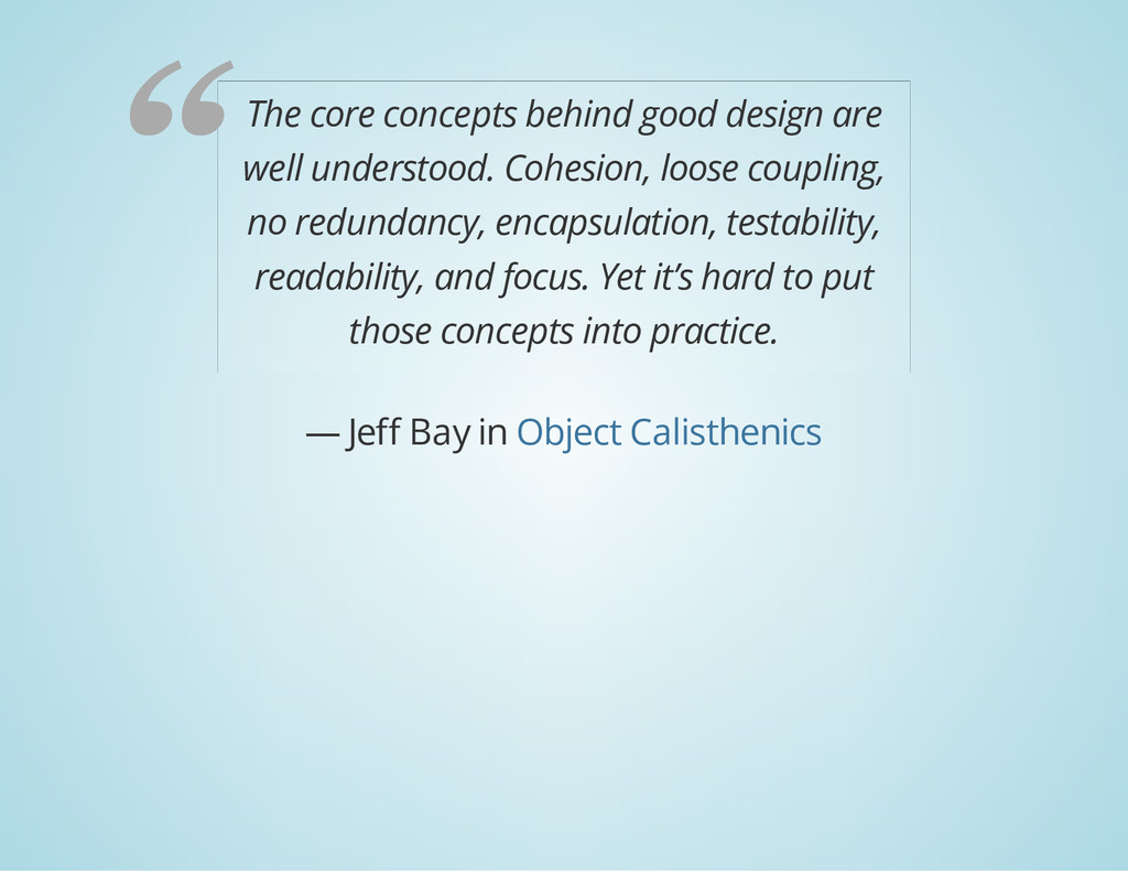 The core concepts behind good design are well u...