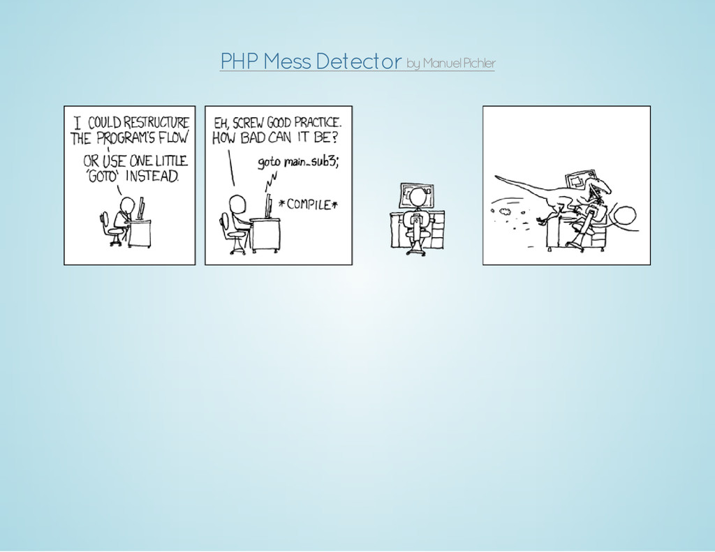 by Manuel Pichler PHP Mess Detector