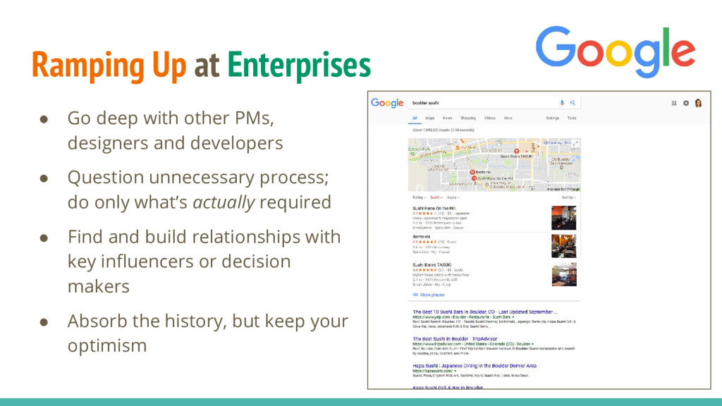 Ramping Up at Enterprises ● Go deep with other ...