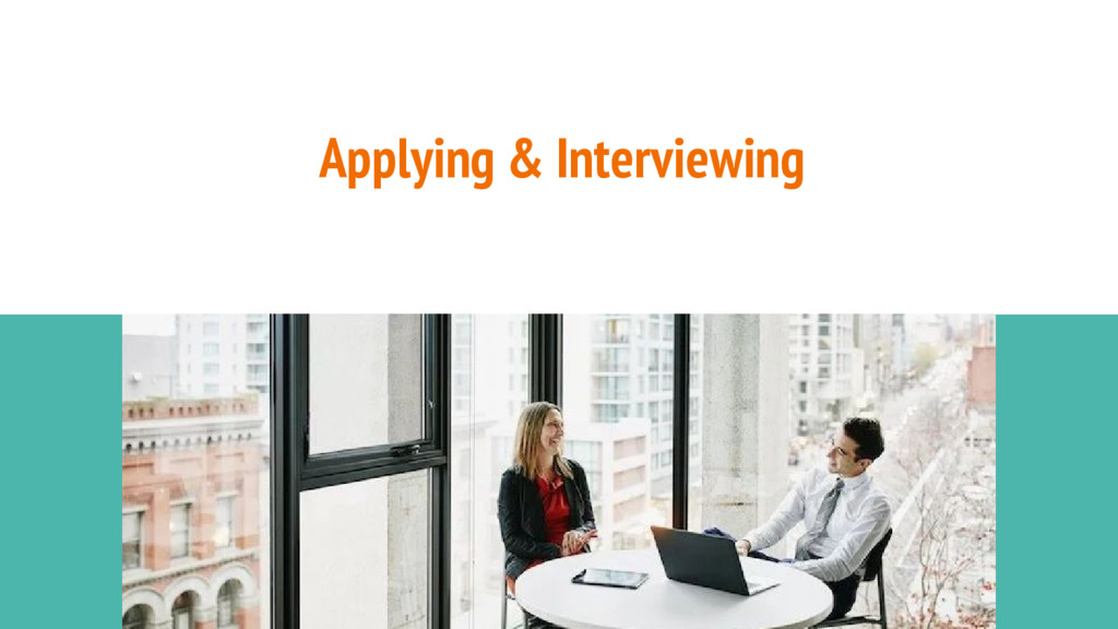 Applying & Interviewing Image