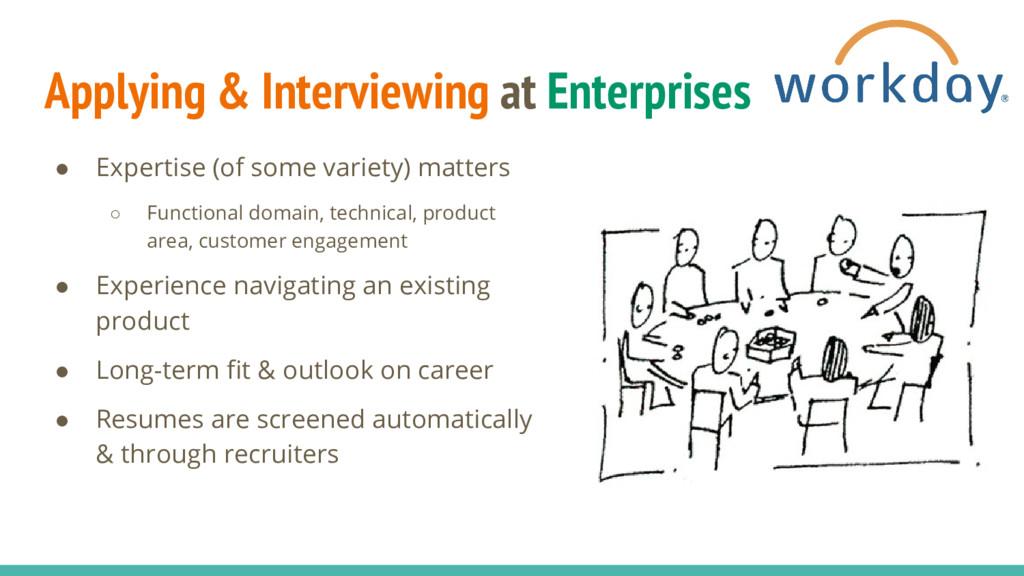 Applying & Interviewing at Enterprises ● Expert...