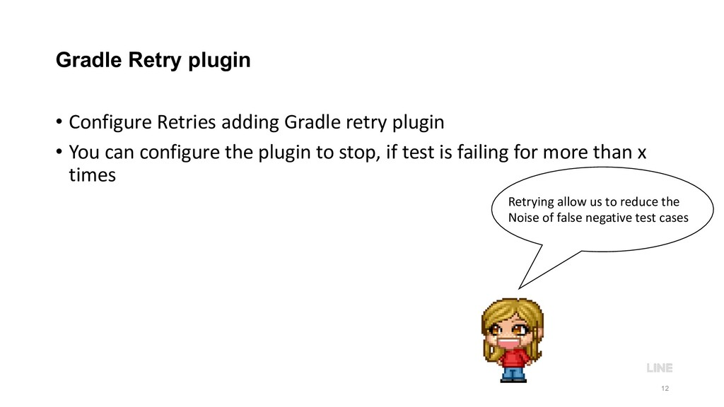 Gradle Retry plugin • Configure Retries adding ...