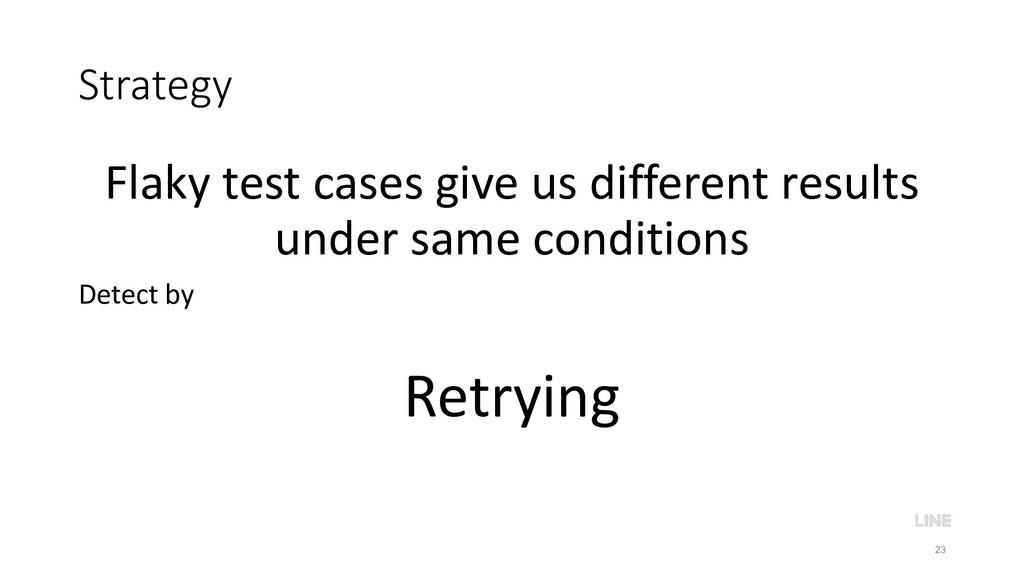 Strategy Flaky test cases give us different res...