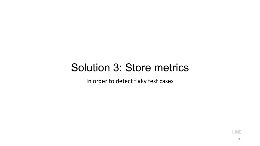 Solution 3: Store metrics In order to detect fl...