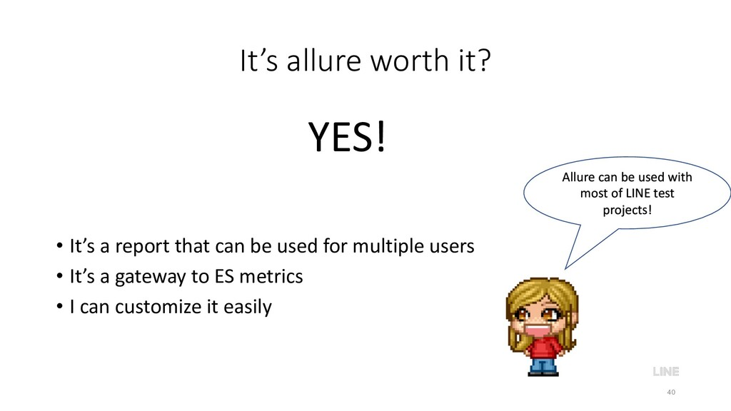 It's allure worth it? • It's a report that can ...