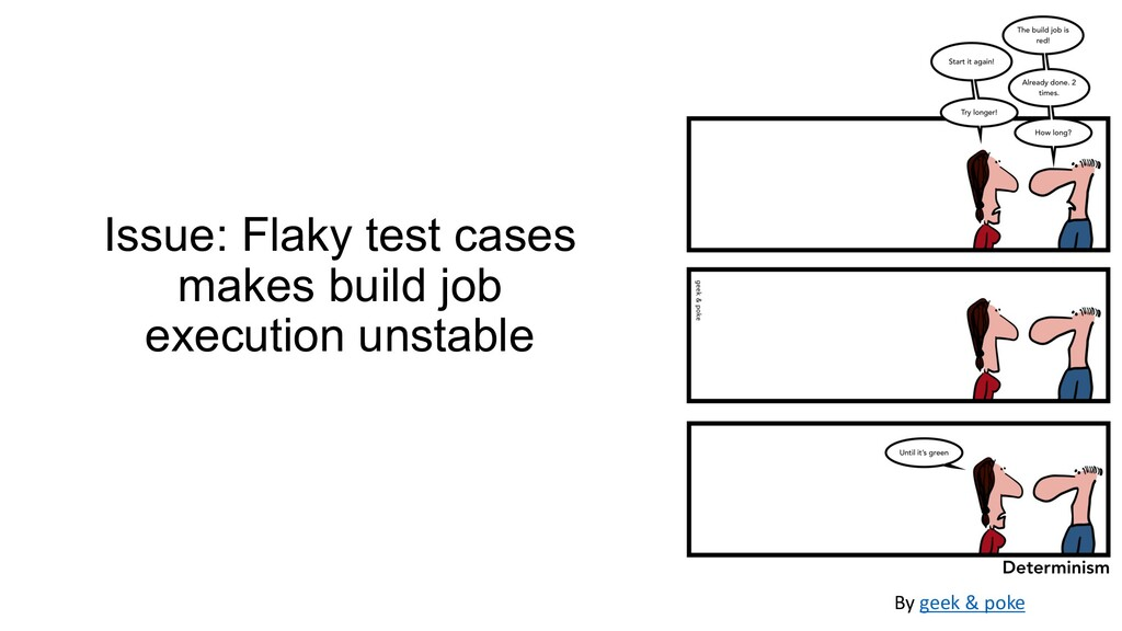 Issue: Flaky test cases makes build job executi...