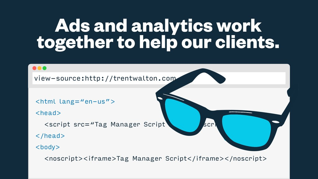 Ads and analytics work together to help our cli...