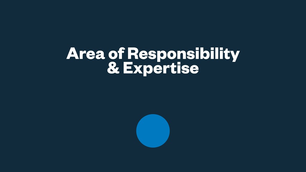 Area of Responsibility & Expertise