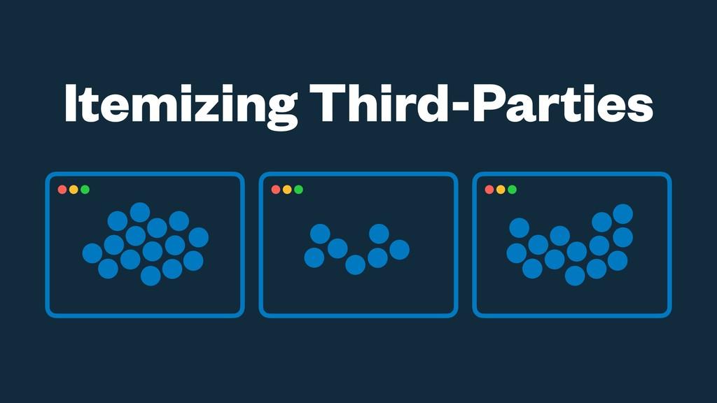 Itemizing Third-Parties