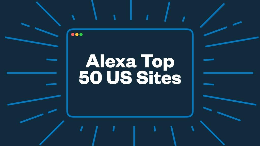 Alexa Top 50 US Sites