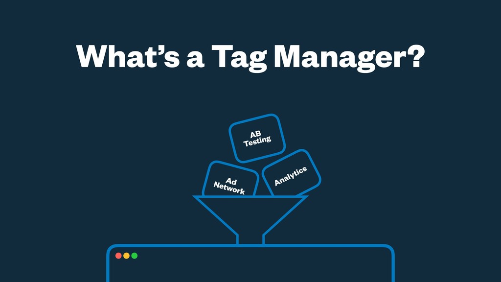 Analytics Ad Network What's a Tag Manager? AB T...