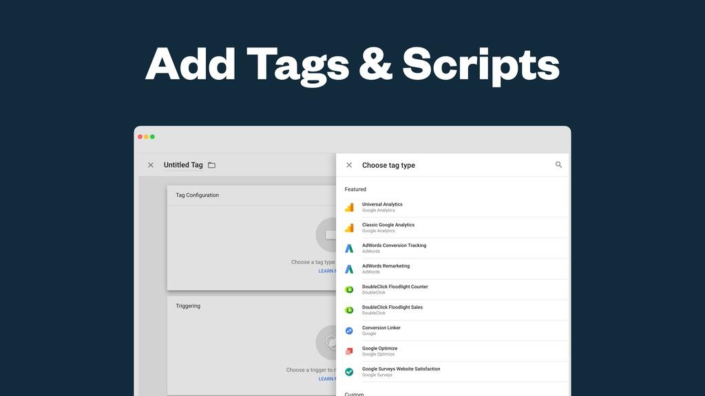 Add Tags & Scripts