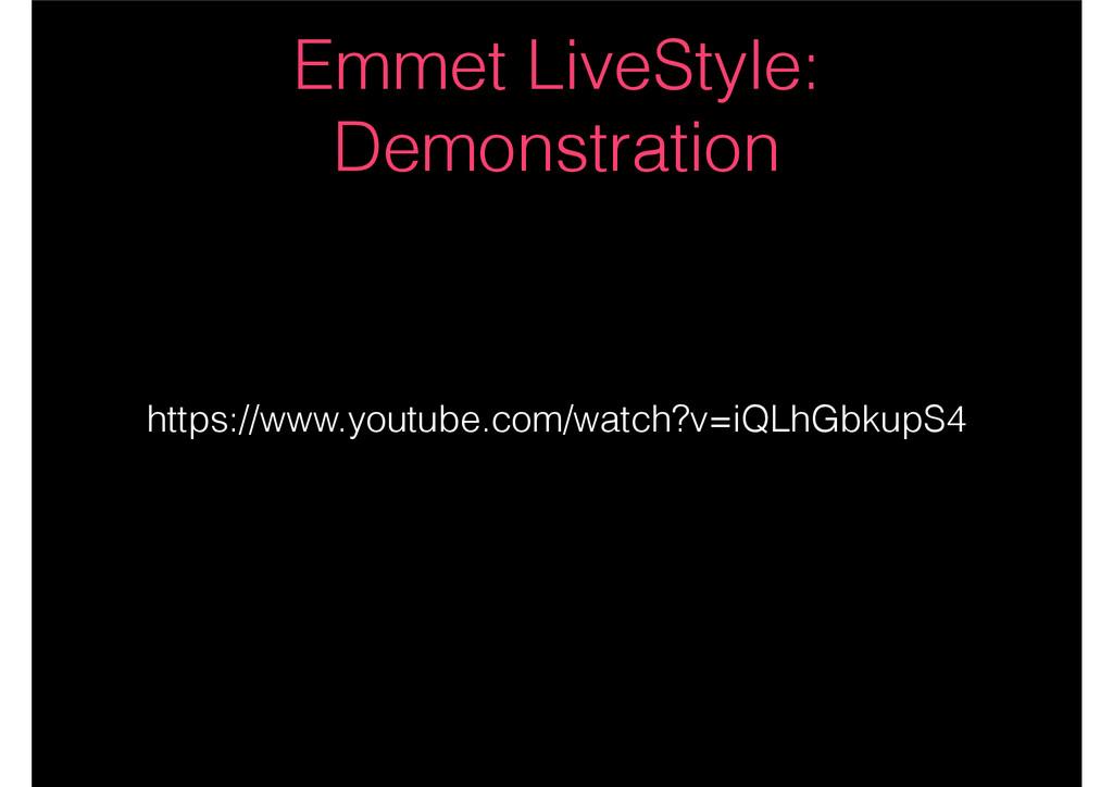 Emmet LiveStyle: Demonstration https://www.yout...