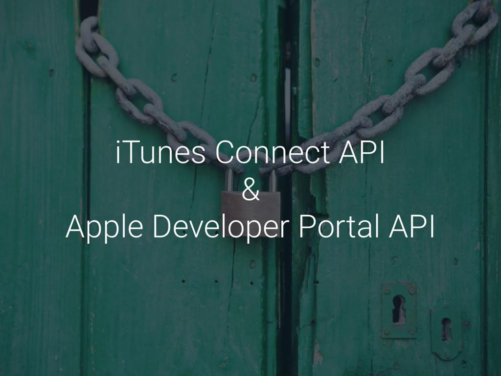 iTunes Connect API & Apple Developer Portal API