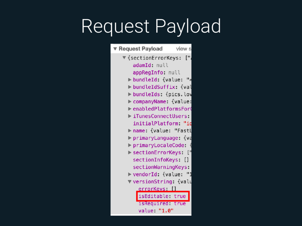 Request Payload