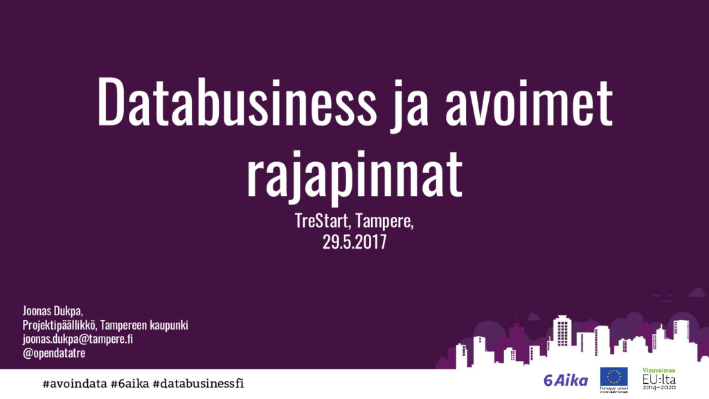 #avoindata #6aika #databusinessfi Databusiness ...