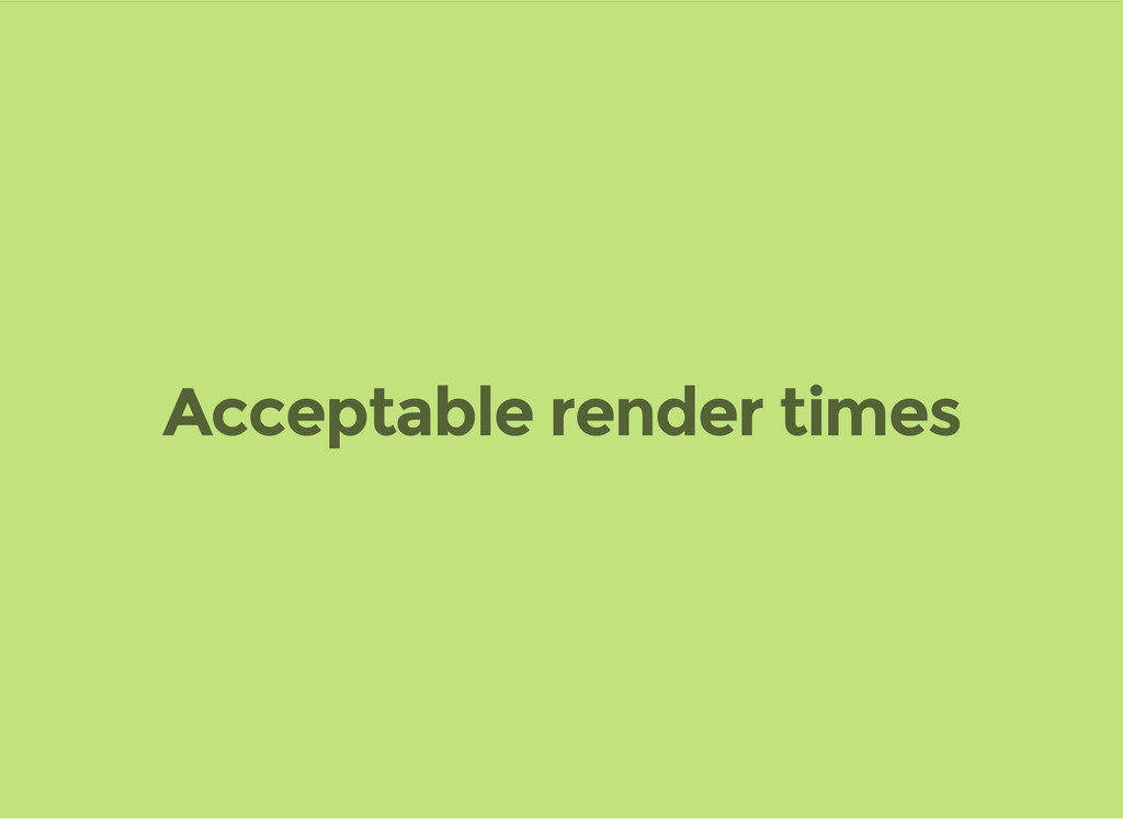 Acceptable render times